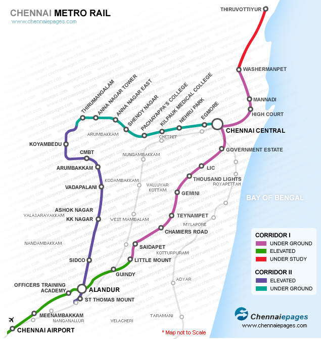 Chennai Map Route Metro Rail Chennai Route Map, Chennai Metro Rail, Chennai Metro  Chennai Map Route